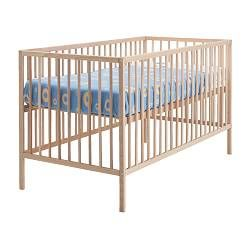 "SNIGLAR crib, beech Length: 53 7/8 "" Width: 29 1/8 "" Height: 33 1/8 "" Length: 137 cm Width: 74 cm Height: 84 cm. $70"