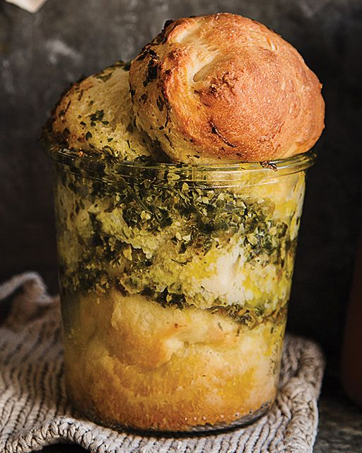 Pesto Bread in a Jar - http://www.sweetpaulmag.com/food/pesto-bread-in-a-jar #sweetpaul
