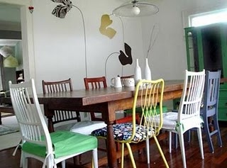 love mix and match chairs