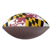 Patriotic american football with Maryland flag