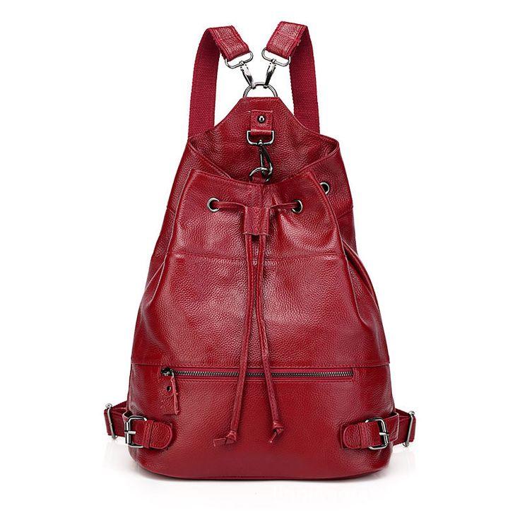Comprar bolso mochila de piel mochilas escolares para estudiantes de colegios €82.06