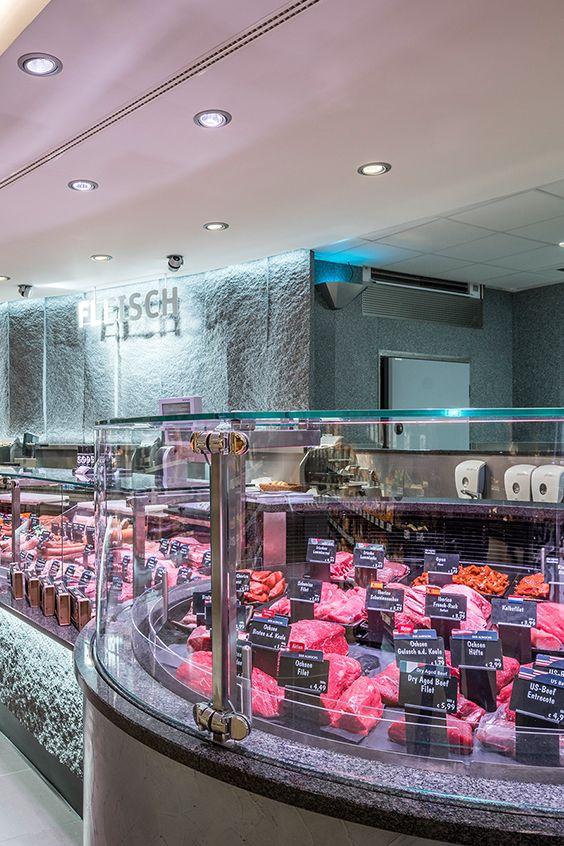 REWE Premium, Munich (Germany) #food #retail #lighting #HCL #REWE #beleuchtung #licht