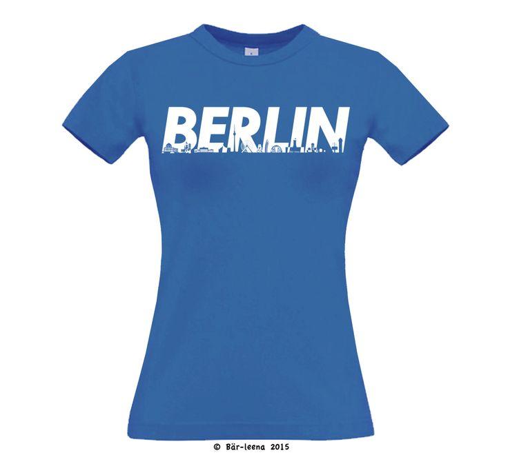Frauenschnitt Berlin T-Shirt in Blau bei BaerLeena am Etsy