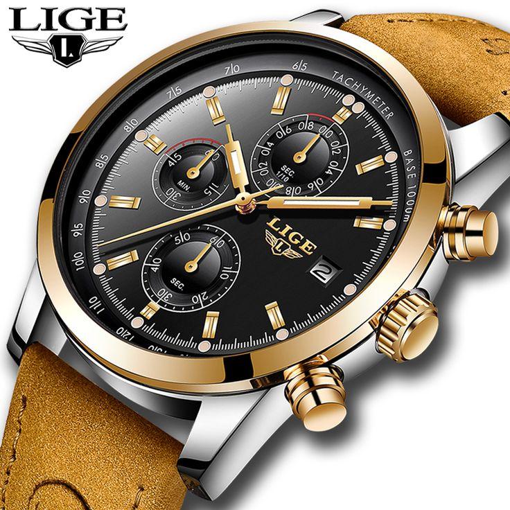 <b>2018</b> New LIGE Skull mens Watches <b>Top Luxury Brand</b> leather ...