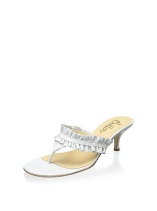 51% OFF Butter Women's Pineapple Ruffled Thong Sandal (Milk)