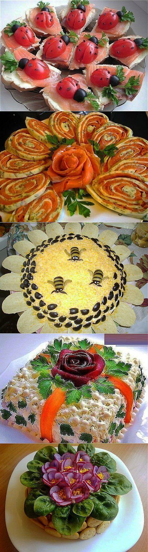 Креатив на кухне: интересные идеи для оформления блюд, салатов и бутербродов.