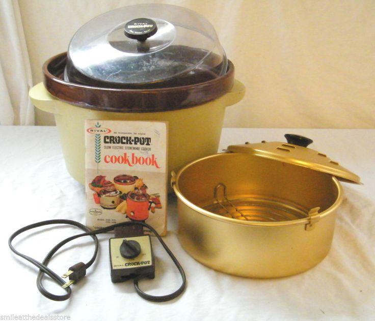 Vintage Rival 5qt Crock Pot Slow Cooker Model 3300 2 And