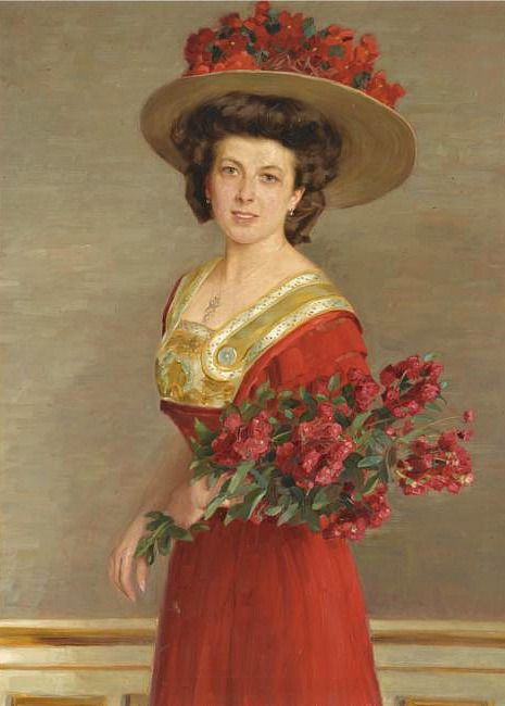 Alfred Hamacher Portrait of a Woman 1905