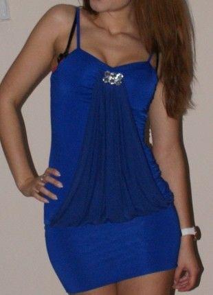 Kup mój przedmiot na #vintedpl http://www.vinted.pl/damska-odziez/krotkie-sukienki/22460-kobaltowa-sukienka