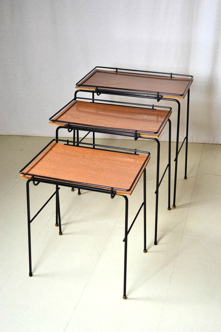 Wrought Iron Mid Century Nesting Tables By OffCenterModern On Etsy