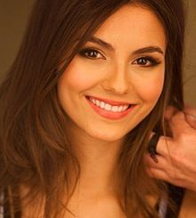Victoria Justice (born February 19, 1993) is an American actress, singer-songwriter, and dancer. She debuted as an actress at the age of 10 and has since appeared in several films and television series including the Nickelodeon series Zoey 101 and Victorious.