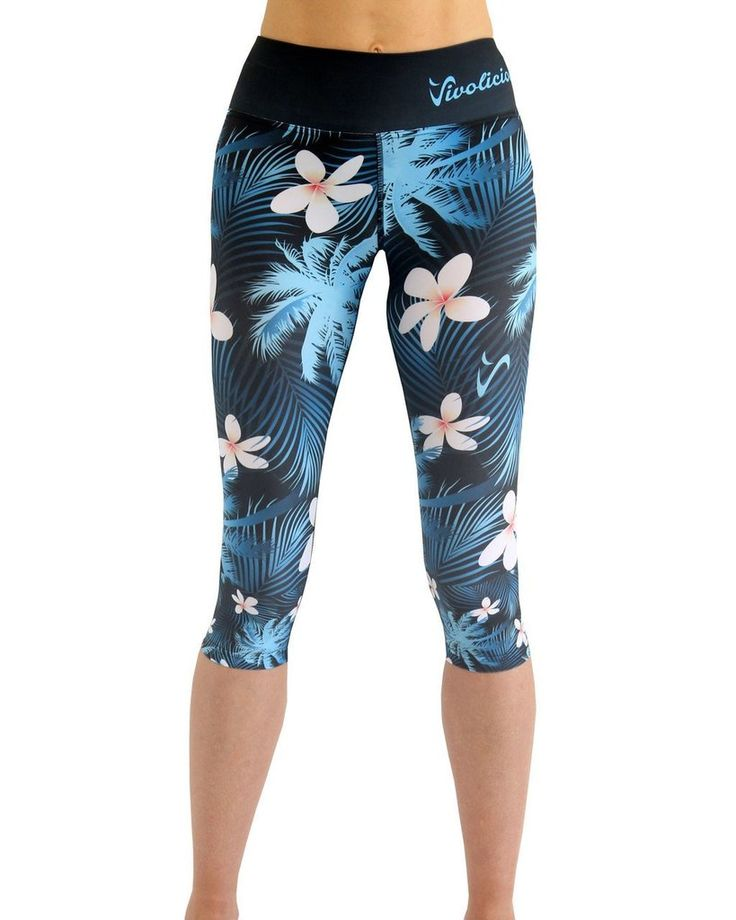 Tech 3/4 Capri Leggings - Frangipani #3/4-LEGGINGS #CAPRI #CAPRI-LEGGINGS