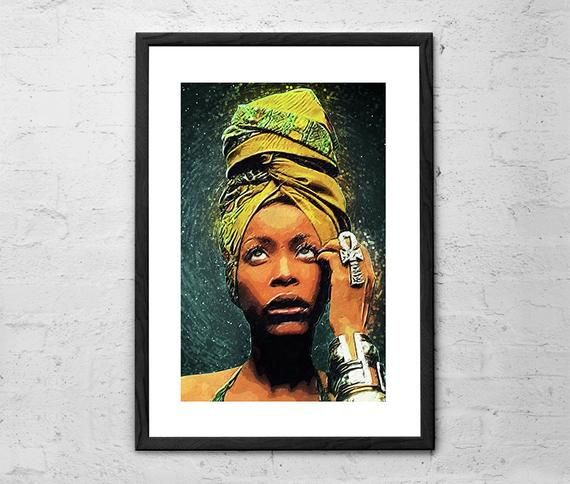 Erykah Badu Illustration Music Poster Soul Baduizm Music