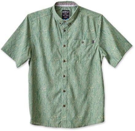 KAVU Men's River Wrangler Shirt Seaweed XXL