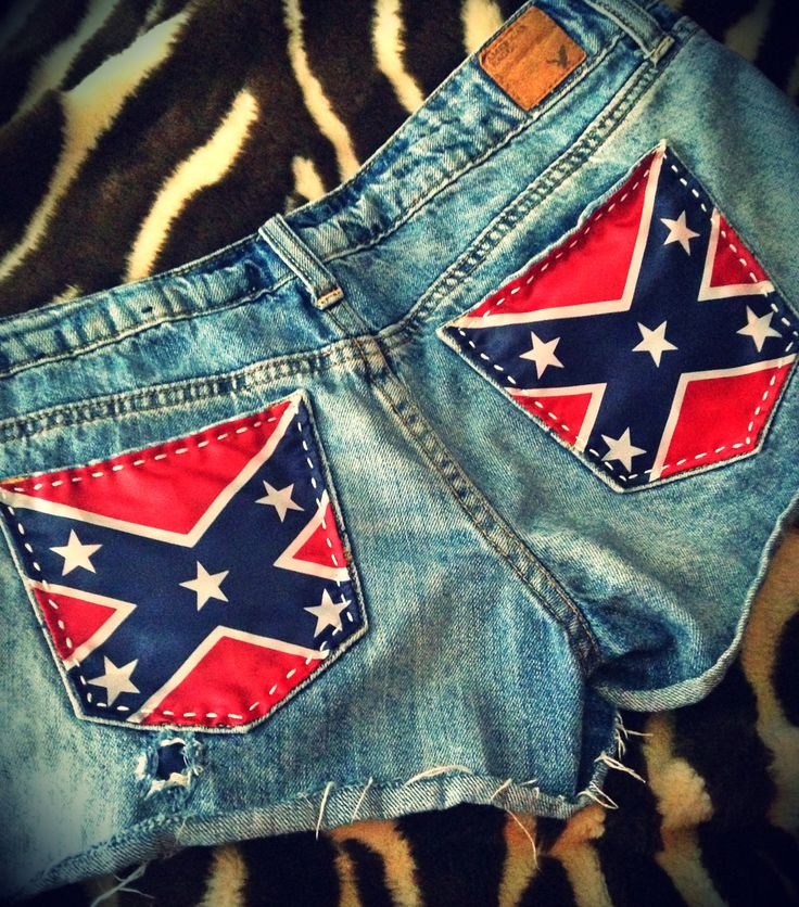 Rebel Flag Upcycled American Eagle Patriotic by