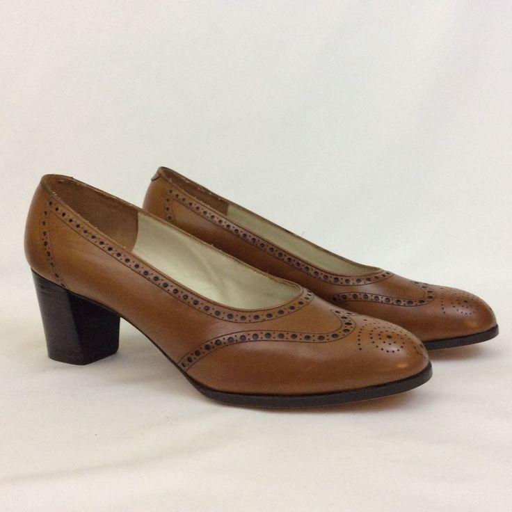 Vintage Florsheim Imperial Brown Leather Pumps Womens 6.5 B #Florsheim #PumpsClassics #WeartoWork