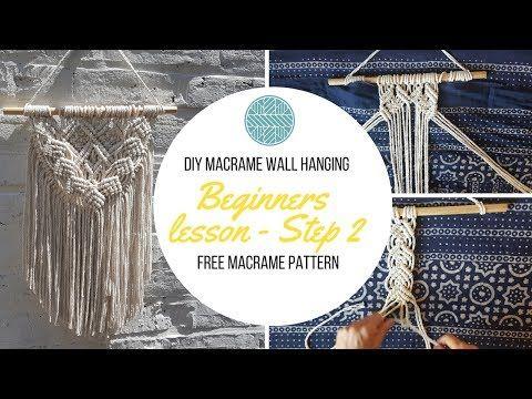 Fee Macrame Pattern - DIY Macrame Wall Hanging tutorial - Beginner- DIY Craft - YouTube