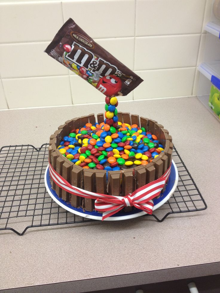Pouring M&Ms Cake | Cora's Cakes