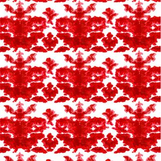 Timorous Beasties Euro Damask Wallpaper - RED for Valentines