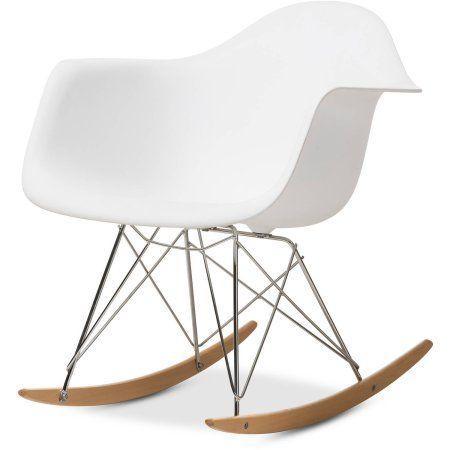 White Plastic Rocking Chair