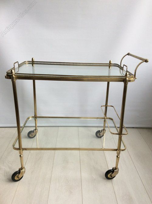 Lovely clean lines to this large vintage French drinks trolley