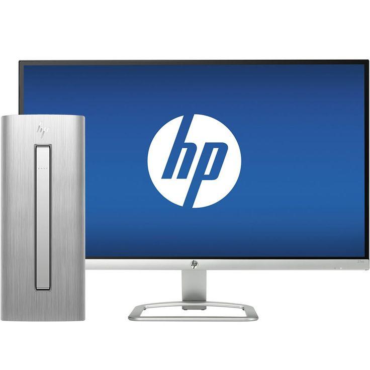"HP - ENVY 750-514 Desktop & 27"" IPS LED Full HD Monitor Package - Front_Zoom"