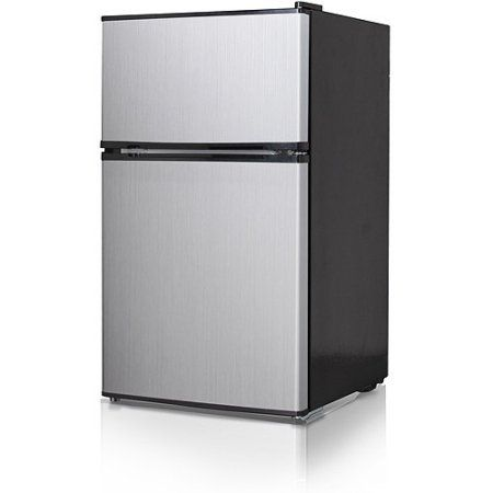 Midea 3 5 Cubic Foot Compact Refrigerator And Freezer Silver
