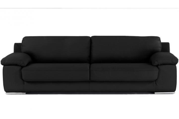 Canapé 3 places en cuir NIKO design pas cher sur SoFactory