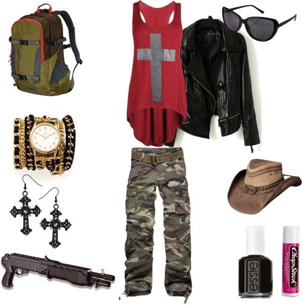 66 Best Images About Polyvore On Pinterest | Zombie Apocalypse Outfit Hunters And Polyvore Fashion