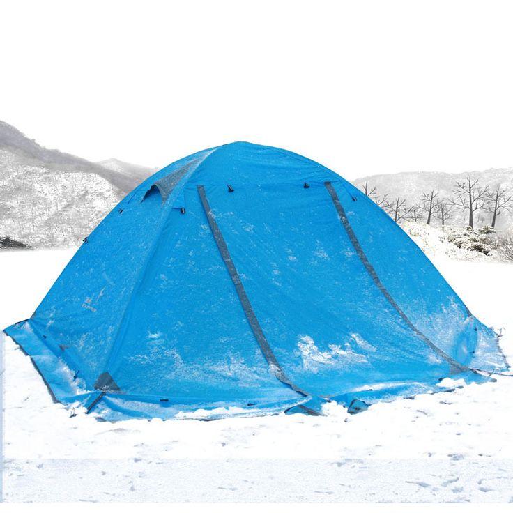 Зима палатка со снегом юбки! 2-3persons алюминия полюс двойной слой двойные двери ветрозащитный доказательство профессиональные палаточного городка