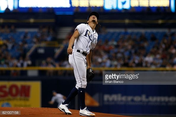 News Photo : Pitcher Chris Archer of the Tampa Bay Rays...