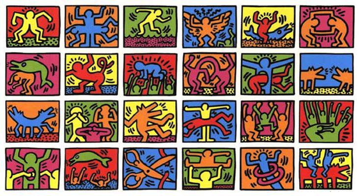 Galeria iluminada de cores emana a mensagem de Keith Haring