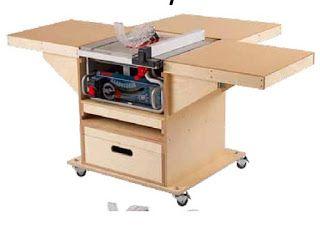 este e outros projetos gratuitos no blog Ah! E se falando em madeira...: Bancada para embutir serra circular