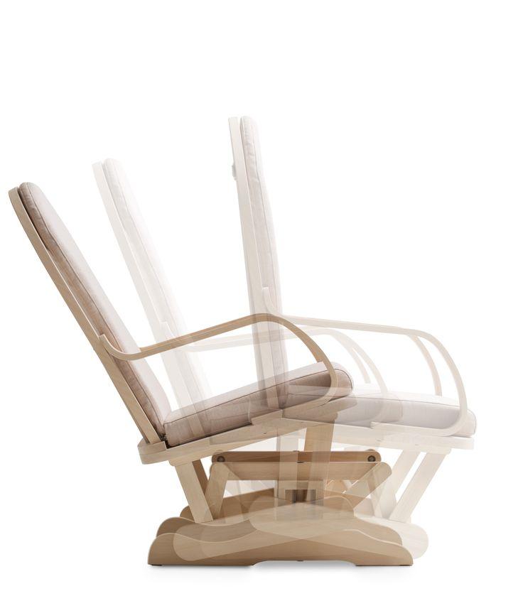 Sedia a dondolo in legno di faggio #legno #sedia #basculante #faggio #beechwood #rockingchair