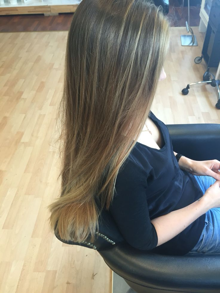 Balayage sun kissed sombre ombre hair natural blond bronde color. #highlights