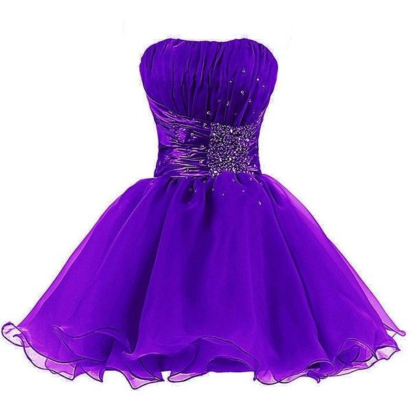 Tivansi Women's Short Homecoming Prom Cocktail Dresses ($49) ❤ liked on Polyvore featuring dresses, short dresses, prom homecoming dresses, cocktail prom dress, purple prom dresses and short length dresses