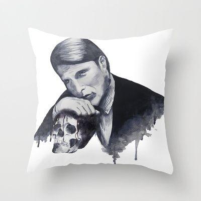 Hannibal Throw Pillow  Mads Mikkelsen