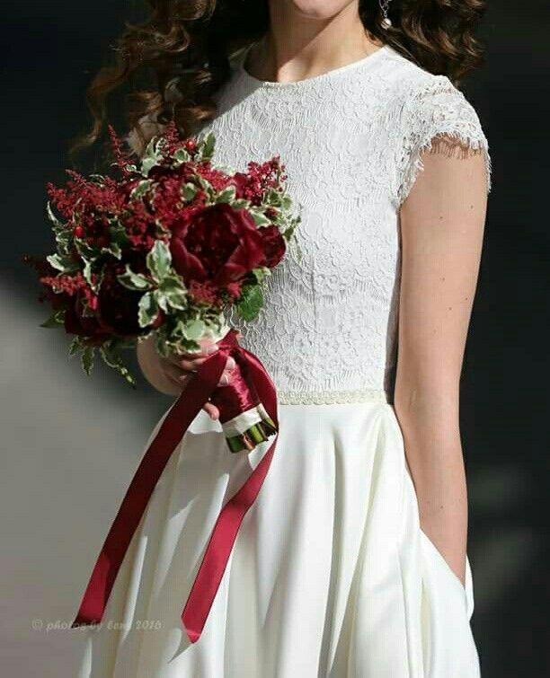 Мой свадебный букет! Делала подруга Wedding flowers red, marsala