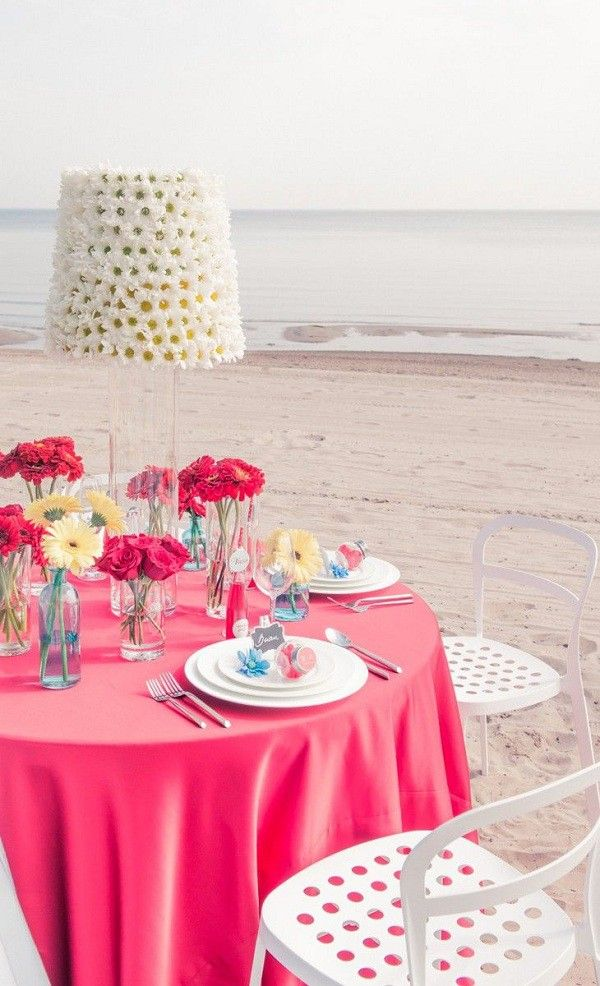 Pink Beach Wedding Ideas - Beach Wedding Tips