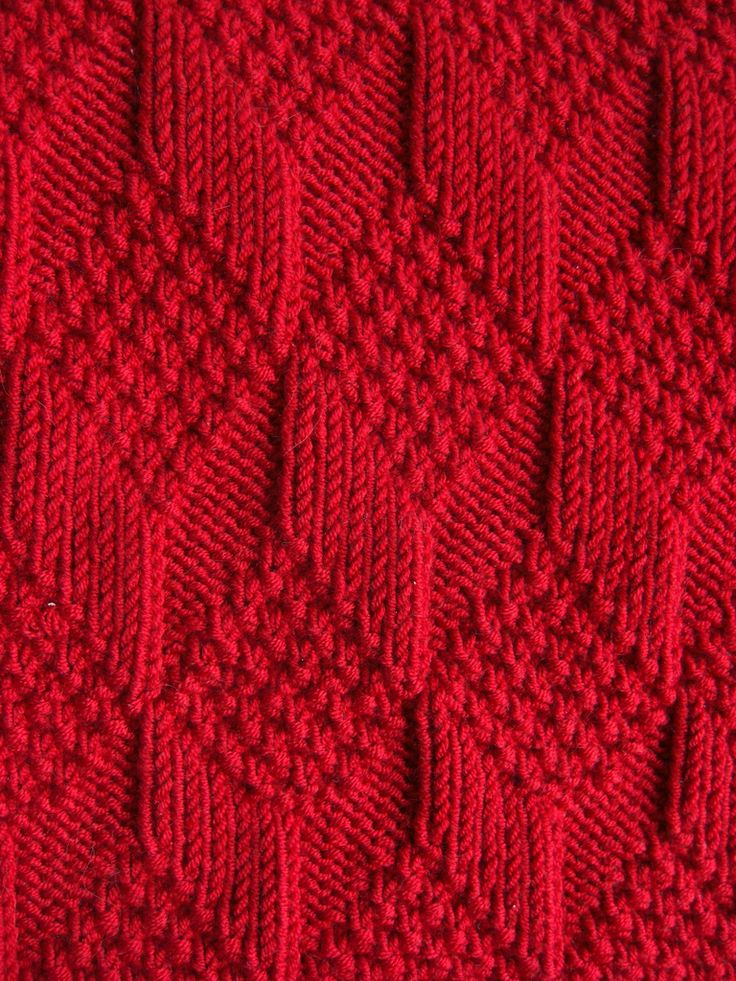 """Moss Diamond and Lozenge Pattern"" by natalief on Flickr - Moss Diamond and Lozenge Pattern from 'A Treasury of Knitting Patterns', written by Barbara G. Walker, Knit-Purl Combinations"