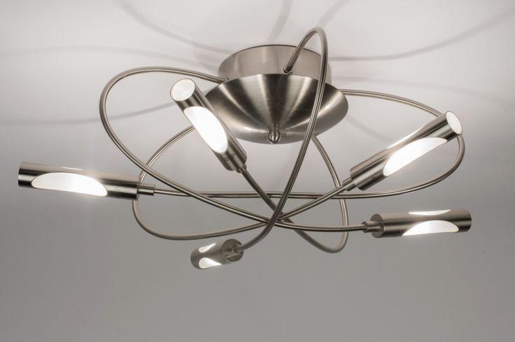 E-mail: es@lumidora.com . Haga clic en este enlace . tienda online : http://www.lumidora.com/es/ .  Sin gastos de envío . ILUMINACIÓN . Adecuado para LED Una lámpara de techo especial y exclusiva con un diseño elegante y forma abovedado. Esta armadura tiene 5 puntos de luz. Los puntos de luz estan colocado detrás de un vidrio esmerilado para que la luz muy bien entra en su cuenta. Lámpara de cuarto de baño . Diámetro: 55.00 cm