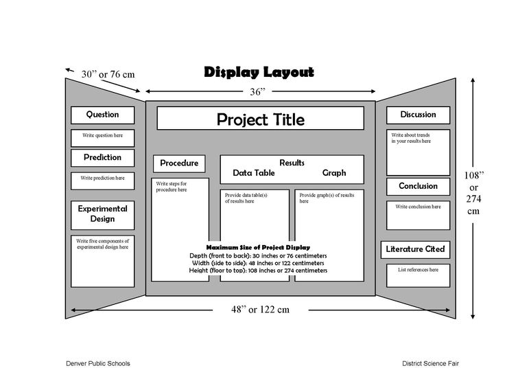 science fair projects poster board layout