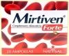 Mirtiven Forte. Ingredientes: Concentrado de Mirtilo 80 mg,Concentrado de Grosellero Negro 60 mg, 2.5 mg de Flavonoides,Concentrado de Vid Roja 60 mg con 95 % Proantocinidinas.Concentrado de Castaño de Indias 50 mg,Concentrado de Ruscogenina,Gluconato de Manganesa 0.82 mg,Vitamina P(Rutina) 1mg    Propiedades: Ayuda a la circulación.