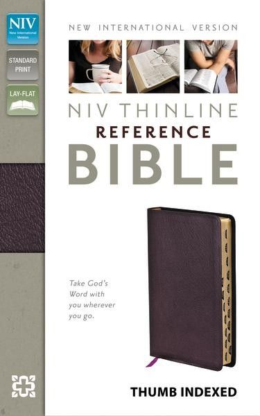 THUMB-INDEXED EDITION<br />The only NIV reference Bible in a take-anywhere size. This durable leather burgundy edition includes full-color maps, a concise concordance, center-column references, and the words of Christ in red lettering. And with thumb indexing, it's quick and easy to navigate.