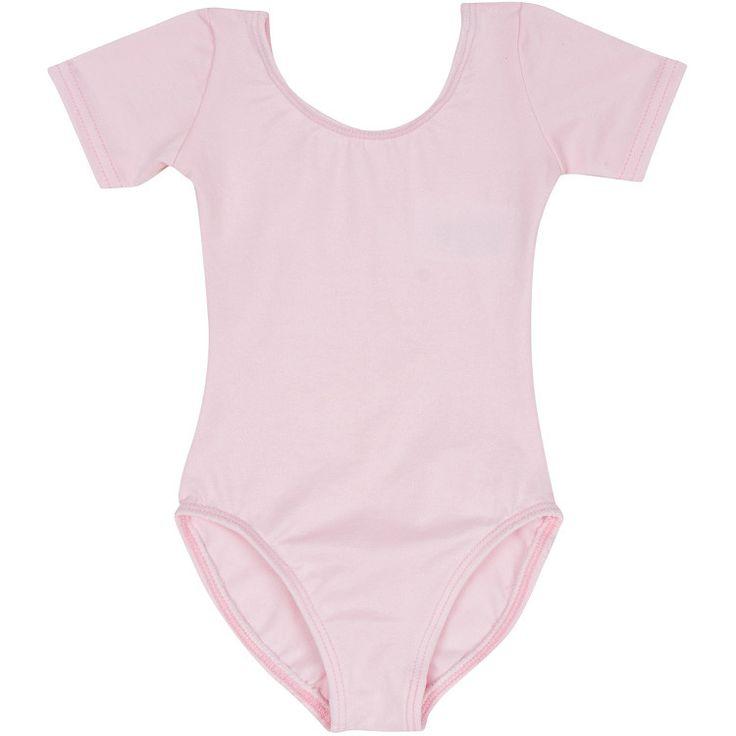 LIGHT PINK Short Sleeve Leotard for Toddler and Girls - Gymnastics / Ballet Dance – The Leotard Boutique