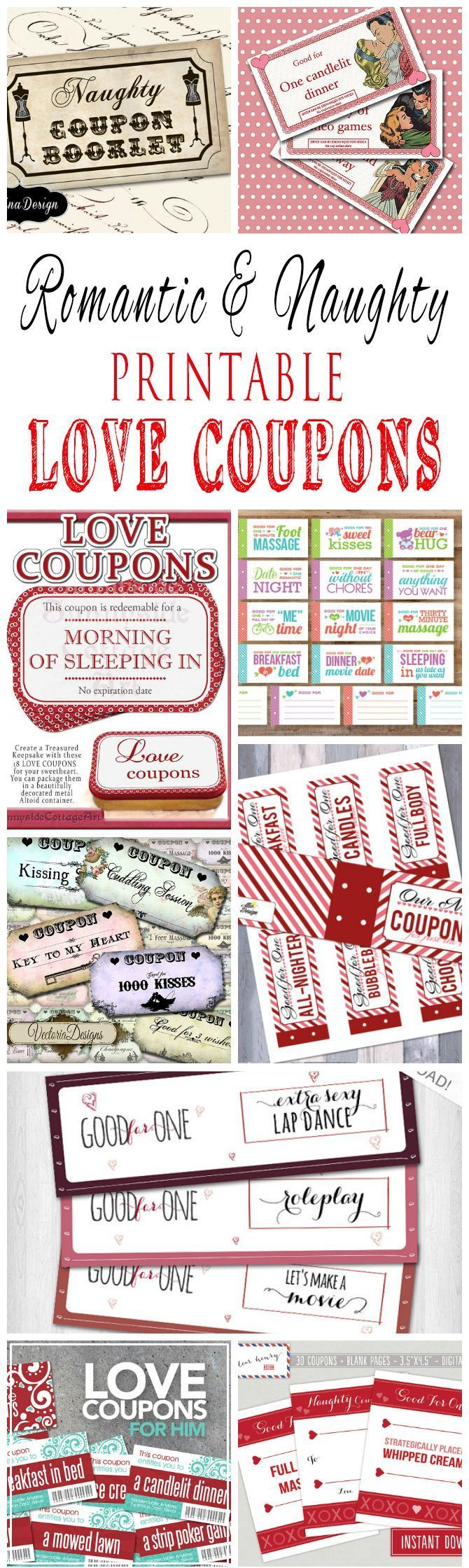 Romantic and naughty printable love coupons for him for Coupons for my boyfriend