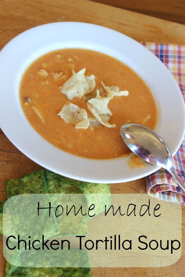 Chicken Tortilla Soup - a very satisfying, flavorful soup! - Momcrieff
