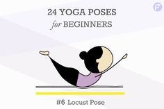 24 Beginners Yoga Poses Chart—Your cheat sheet to mastering the common poses at home. You'll be ready for your next yoga class.