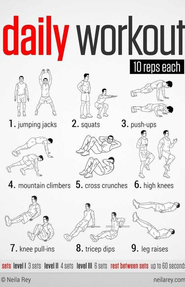 The daily workout!   Workout   Pinterest   Workout ...