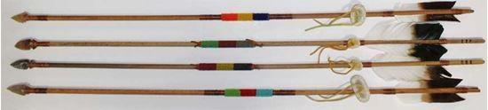 "Navajo artifact 36"" Beaded Arrow; antiqued #ShopNow @  $30.00 on FoutzTrade.com #Arrows #NativeAmericanArts #NavajoCrafts"